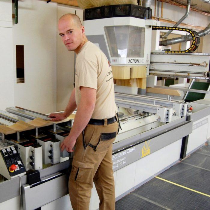 Lukas Rottstegge Tischlergeselle seit 1995 bei der 3D CNC Tischlerei Cluse beschäftigt