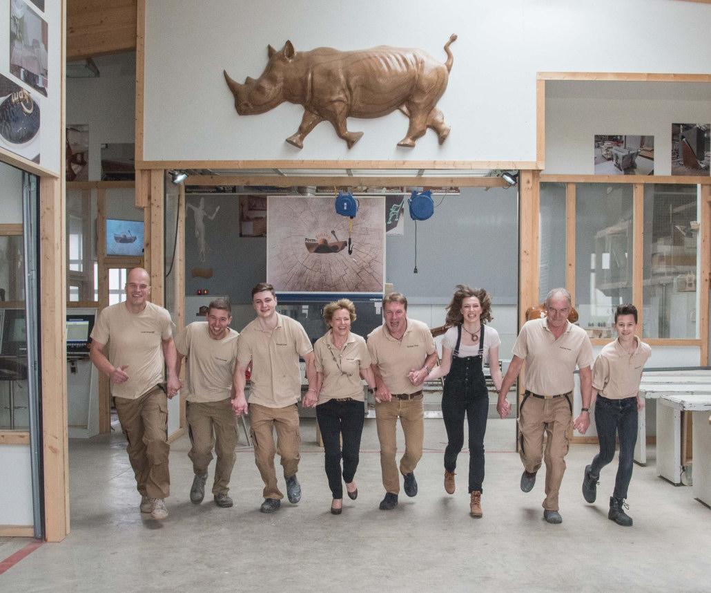 Das Team der 3D CNC Tischlerei Cluse