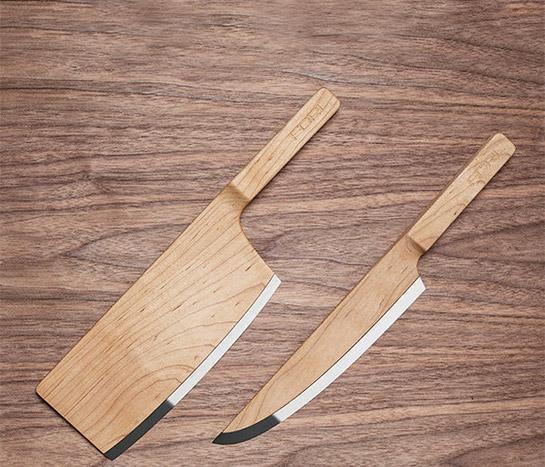 """2 Transatlantisches Küchen- Bündnis: In den """"Maple Set Knives"""" von The Federal trifft kanadischer Ahorn auf deutschen Messerstahl namens """"X50CRMOV15"""""""