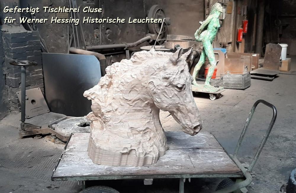 3D-CNC-Fräsen-Pferdekopf-vorm-Abguß