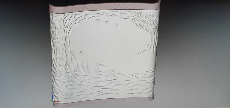 3D-CNC-Tischlerei-Wellenwand-mit-Freiform-Modellier-Software-konstruiert