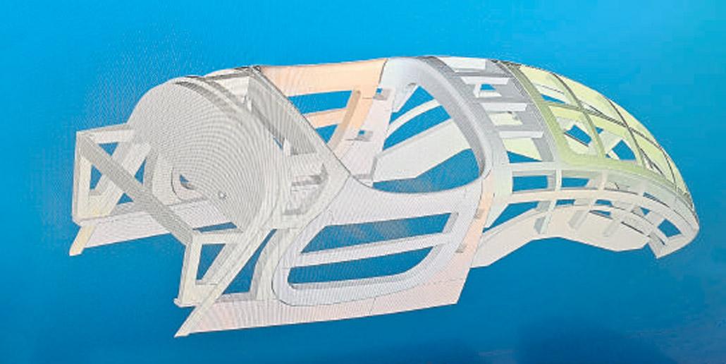 Aus Südafrika erhielt Thomas Cluse die 3-D-Zeichnung, nach der er den Fahrzeugaufbau für den Oldtimer fertigen sollte.